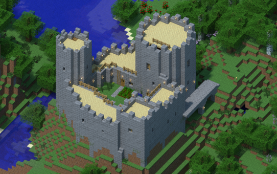 Realistic small minecraft castle