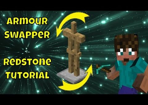 Minecraft How to Build a Redstone Armour Stand Swapper - Tutorial Tuesday