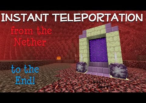 Instant Teleportation from the Nether to the End! (V2) 1.10+ Vanilla Survival Minecraft