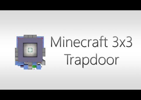 (Minecraft redstone) 3x3 Piston Trapdoor