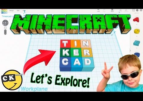 Tinkercad Tutorial Video - It Does Minecraft Designs!
