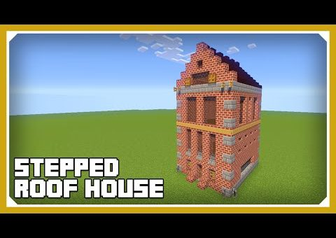 Minecraft: How To Build A Stepped Roof House Tutorial (Easy Survival Minecraft House )