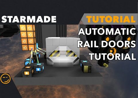 Starmade: How to build an Automatic Rail Door Tutorial