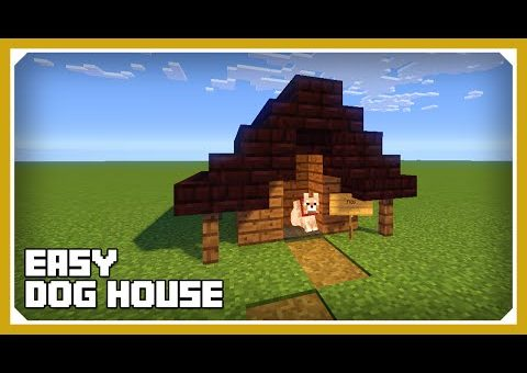 Minecraft: How To Build A Dog House Kennel Tutorial (Easy Survival Minecraft House )