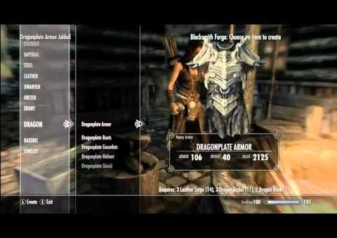 Elder Scrolls Skyrim How to Make Best Weapons and Armor (Tutorial Video)