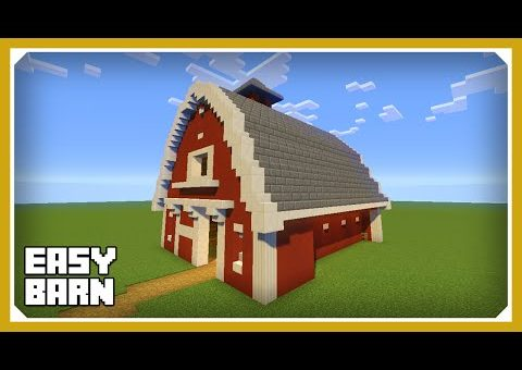 Minecraft: How To Build A Barn House Tutorial (Easy Survival Minecraft House)