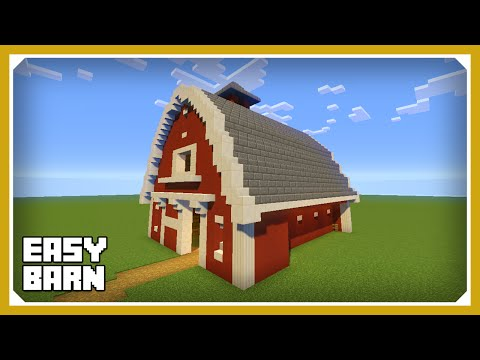 minecraft: how to build a barn house tutorial (easy survival