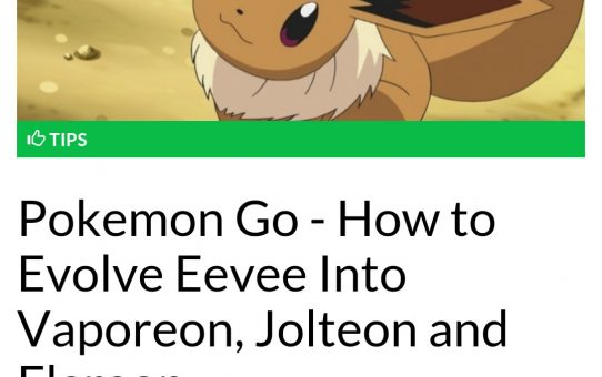 How to choose what your Eevee evolves into