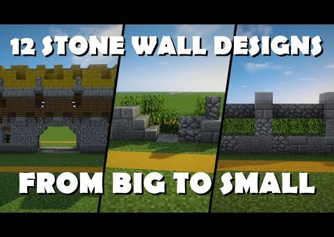 12 Awesome Wall Designs - Minecraft