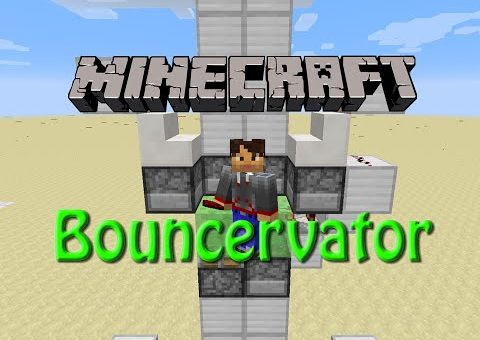 Minecraft: How to build The Bouncervator, Tutorial for 1.9, Fun with Slimeblocks