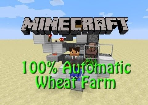 Minecraft: How to build a Fully Automated Wheat Farm, 1.9 Tutorial