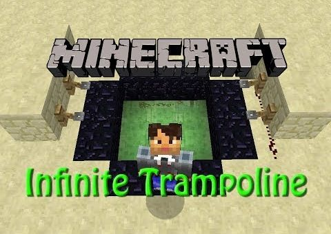 Minecraft: Infinite Trampoline Tutorial, Fun with Slimeblocks in 1.9