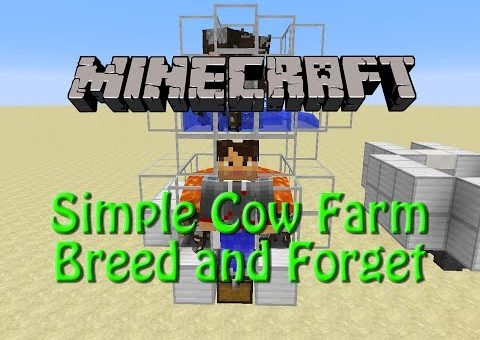 Minecraft: How to build a Cow Farm and Automatic Cooker, Breed and Forget in 1.9