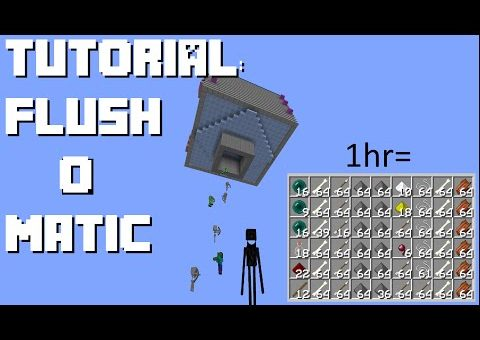 Minecraft: Easy Efficient Flushing Mob Farm (1.8/9/10, Console, PE)
