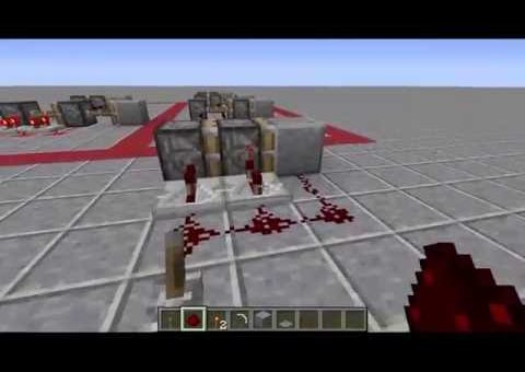 Minecraft Redstone Tutorial - Pistons
