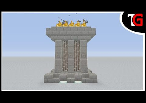 Minecraft Fire Monument Build