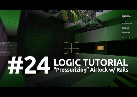 "Starmade Logic #24 - ""Pressurizing"" Airlock using Rails"