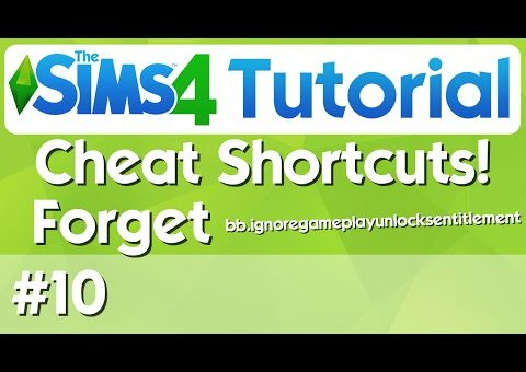 The Sims 4 Tutorial - #10 - Cheat Shortcuts Mod - One Letter Cheats!