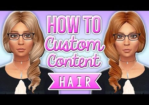 The Sims 4 | How to Make Custom Content Hair Recolors