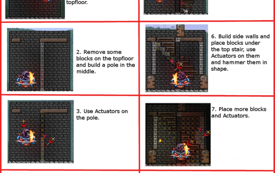 Terraria - Roof and Stairs tutorial