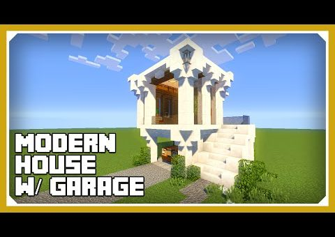 Minecraft: How To Build A Small Modern House W/ Garage Tutorial