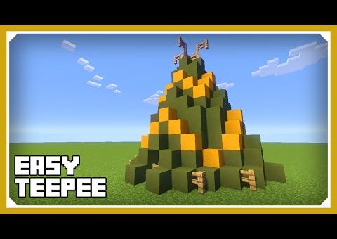 Minecraft: How To Build A Teepee/Tipi Tent Tutorial