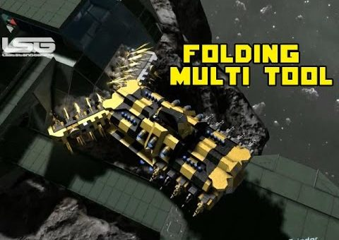 Space Engineers - Folding Multi Tool Utility Ship, Rotating Cockpit