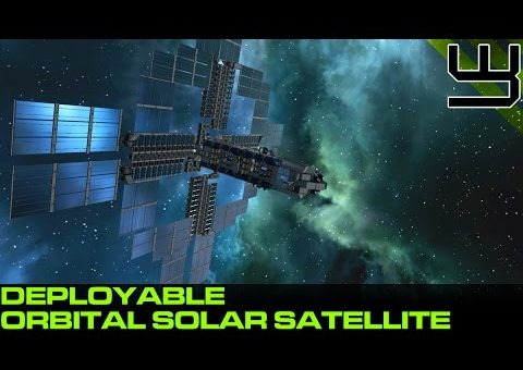 Space Engineers - Deployable Orbital Satellite, Solar Energy and Oxygen Farm